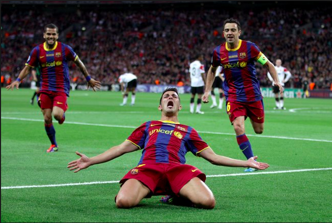 david villa barcelona manchester united
