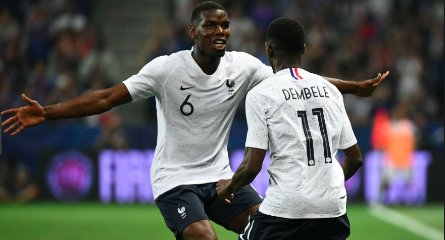 France down Italy, as Dembele nets a stunner.