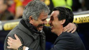 mourinho emery match arsenal united
