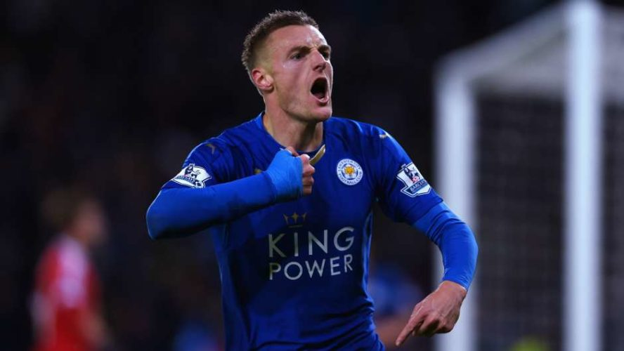 """""""With a few shots of Bacardi, look who's having a party? It's Jamie Vardy!"""""""
