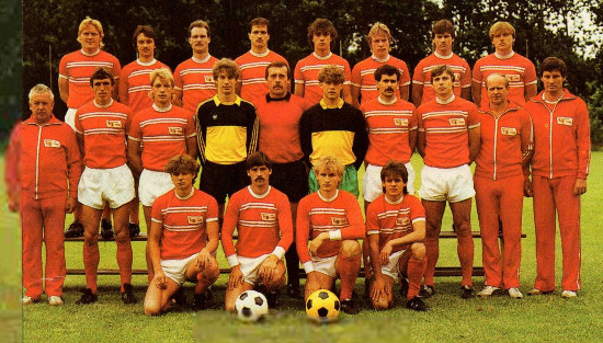 The Union Berlin squad that went on to lift the East Germany Cup in 1986
