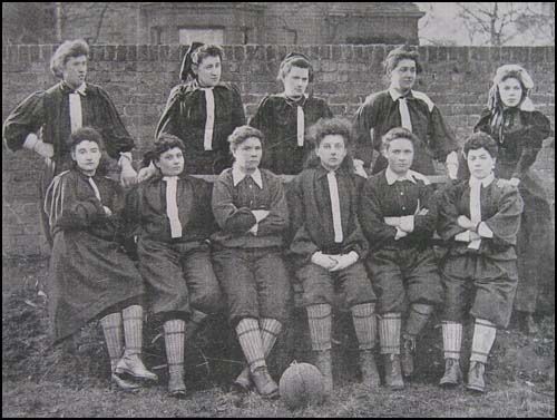 women playing football for the first time officially